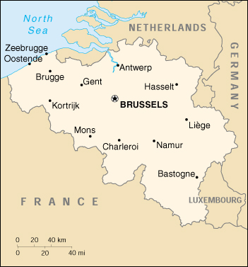 Map of Belgium