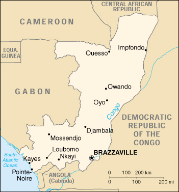 Map of Congo, Republic of the