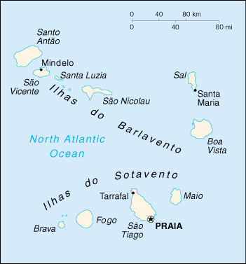 Map of Cabo Verde