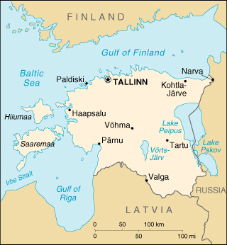 Map of Estonia