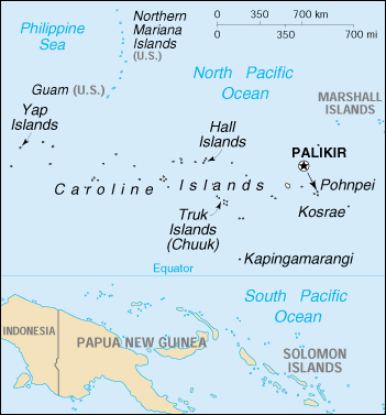 Map of Micronesia, Federated States of