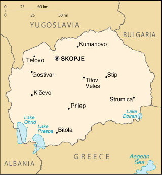 Map of Macedonia (FYROM)