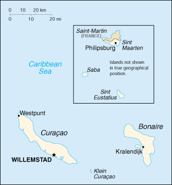 Map of Netherland Antilles