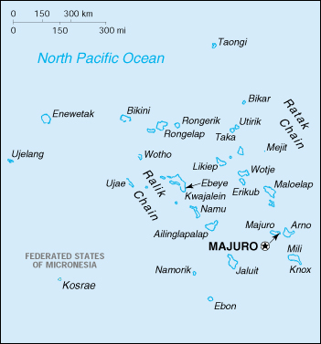 Map of Marshall Islands