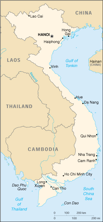 Map of Viet Nam