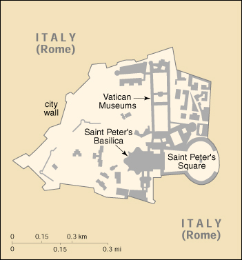 Map of Holy See
