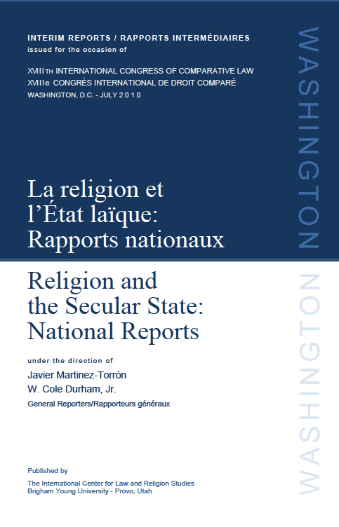 Image for Religion and The Secular State / La Religion et l'État laïque: Interim Reports