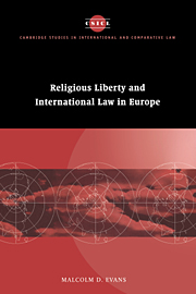 Image for Religious Liberty and International Law in Europe