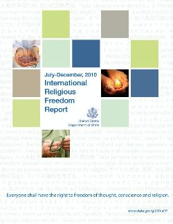 Image for U.S. State Department Releases July-December 2010 Religious Freedom Report