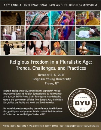 Image for The Eighteenth Annual International Law and Religion Symposium, 'Religious Freedom in a Pluralistic Age: Trends, Challenges, and Practices,' 2-4 October 2011