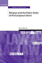Image for Religion and the Public Order of the European Union