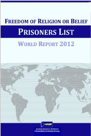 Image for Freedom of Religion or Belief Prisoners List: World Report 2012