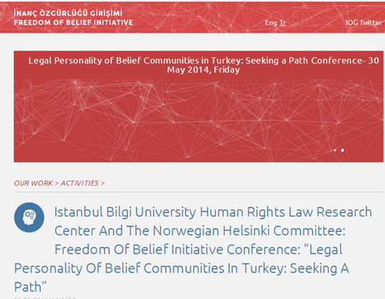 "Image for Conference on ""Legal Personality of Belief Communities in Turkey: Seeking a Path"""