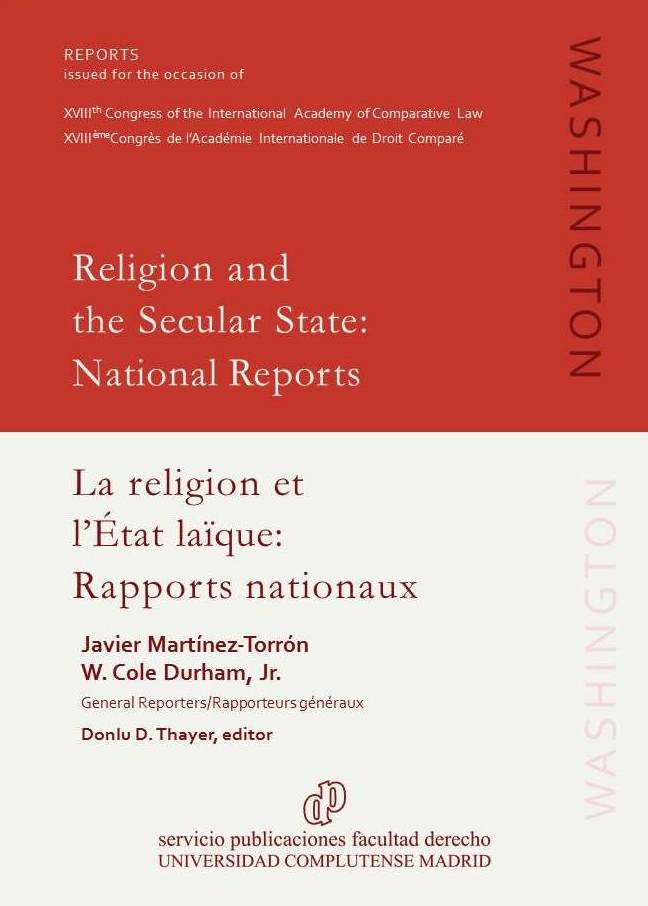 Image for <em>Religion and the Secular State: National Reports</em> now available in final form