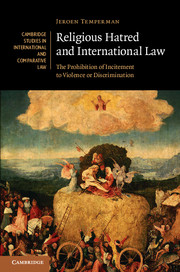 Image for Religious Hatred and International Law: The Prohibition of Incitement to Violence or Discrimination