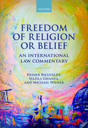 Image for Freedom of Religion or Belief: An International Law Commentary