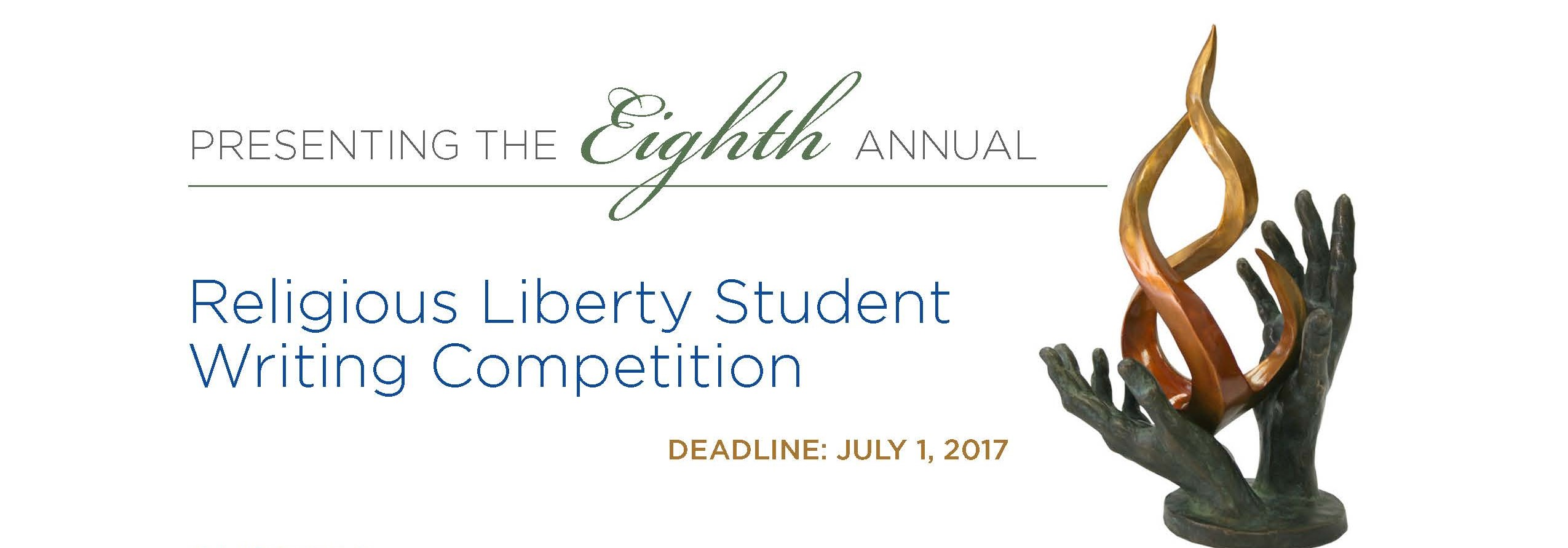 Image for The Eighth Annual Religious Liberty Student Writing Competition