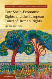 Image for Core Socio-Economic Rights and the European Court of Human Rights (Part of Cambridge Studies in European Law and Policy)